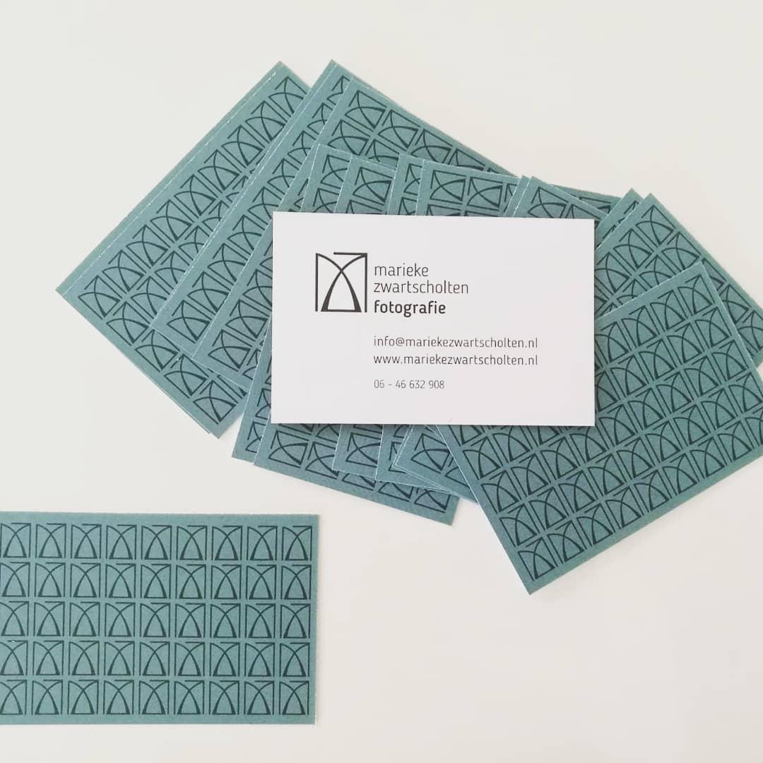 Visitekaartjes Marieke Zwartscholten huisstijl ontwerp Cora Verhagen