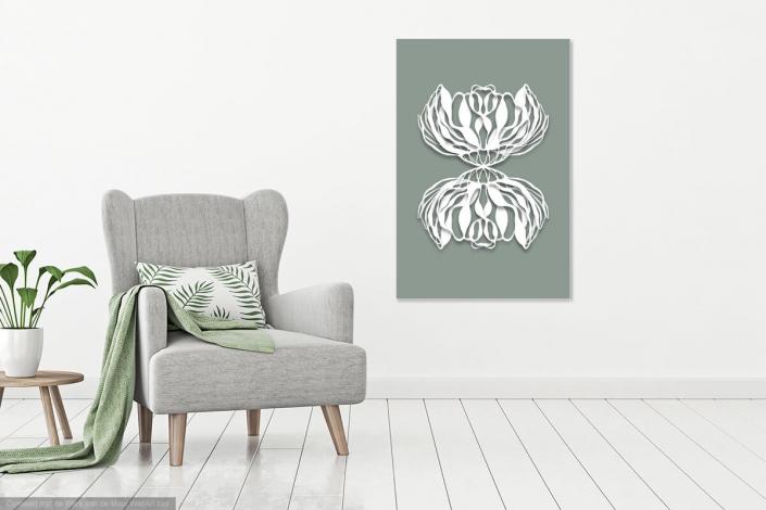 Werk aan de muur, Oh my prints, Cora Verhagen, organic art